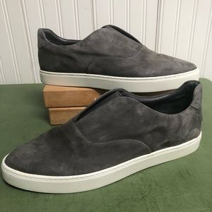 Vince Galia Suede Slip On Sneaker in Steel
